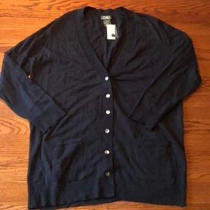 Eddie Bauer Cotton Cashmere Cardigan SZ XXL